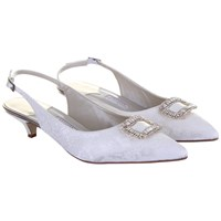 Rainbow Couture Trista Floral Printed Slingback Shoes Ivory