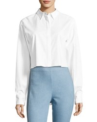 Rag And Bone Calder Reversible Long Sleeve Button Front Shirt White