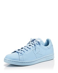 Raf Simons For Adidas Flat Lace Up Low Top Sneakers Stan Smith Trainer Clear Sky White