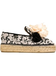 Twin Set Lace Espadrilles Nude And Neutrals