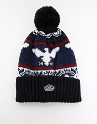 Superdry Eagle Beanie Blue