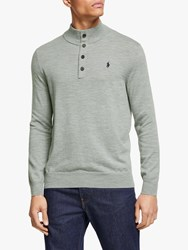 Ralph Lauren Polo Golf By Merino Button Jumper Andover Heather