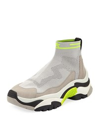 Ash Addict Stretch Sock Sneakers Gray