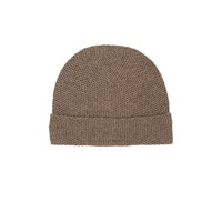 Barneys New York Honeycomb Stitched Beanie Beige Tan