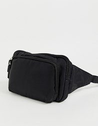 New Look Square Bum Bag With Zips In Black