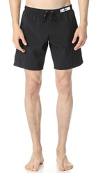Moschino Solid Swim Trunks Black