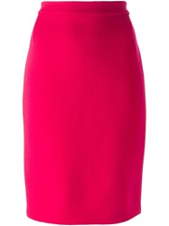 Lanvin Classic Pencil Skirt Pink And Purple