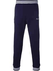 Love Moschino Embroidered Logo Track Pants Blue