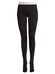 Marine Serre X Swarovski Futurewear Jersey Leggings Black