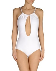 Fisico Cristina Ferrari One Piece Suits White