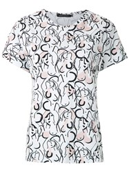 Andrea Marques Printed Batwings T Shirt 60
