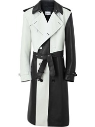Burberry Two Tone Trench Coat White