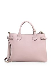 Burberry Banner Medium Leather Satchel Pale Orchid