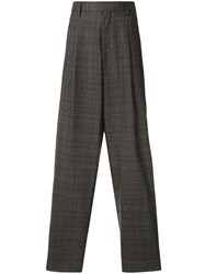 Kolor Pleat Detailed Wide Trousers Brown