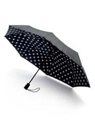 Saks Fifth Avenue Logo Umbrella Black White