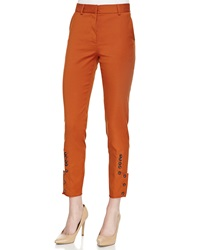 Philosophy Di Alberta Ferretti Button Cuff Cropped Slim Pants Orange