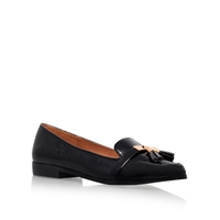Miss Kg Nadia Flat Slip On Loafers Black