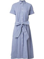Lisa Marie Fernandez Gingham Check Shirt Dress White
