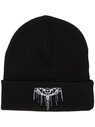 Marcelo Burlon County Of Milan Stitched Wings Beanie Black
