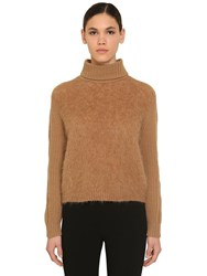 Max Mara Mohair Wool And Cashmere Sweater Camel