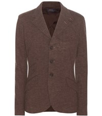 Polo Ralph Lauren Cotton And Wool Jacket Brown