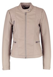 Only Onlwilma Faux Leather Jacket Desert Taupe