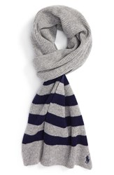 Polo Ralph Lauren Men's Stripe Wool And Cashmere Scarf