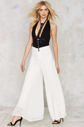 Nasty Gal Flow What Wide Leg Pants White