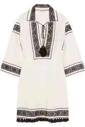 Talitha Embroidered Cotton Tunic White