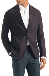 Good Man Brand Downtown Trim Fit Stretch Wool Blend Blazer Burgundy