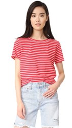 The Lady And The Sailor Jersey Tee Coral Stripe