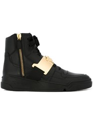 Versace Medusa Hi Top Sneakers Black