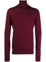 Dolce And Gabbana Roll Neck Sweater Red