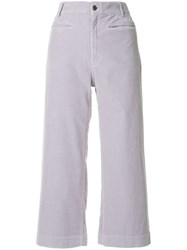 A.L.C. Cropped Trousers Pink And Purple