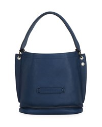 Longchamp 3D Leather Crossbody Hobo Bag Pilot Blue