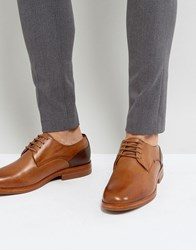 Hudson H By Enrico Leather Derby Shoes In Tan