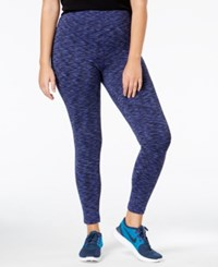 Ideology Plus Size Space Dyed Lined Leggings Only At Macy's Rich Plum