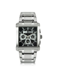 Just Cavalli Rude Collection Stainless Steel Watch Silver