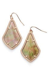 Kendra Scott Women's 'Alex' Drop Earrings Brown Mop Rose Gold