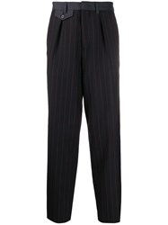 Mcq By Alexander Mcqueen Pinstriped Tailored Trousers Black
