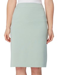 Tahari By Arthur S. Levine Petite Slitted Pencil Skirt Mint