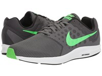 Nike Downshifter 7 Dark Grey Rage Green White Black Men's Running Shoes Gray