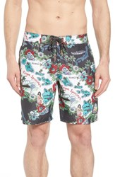 Reyn Spooner Status Oceanic Regular Fit Board Shorts Black