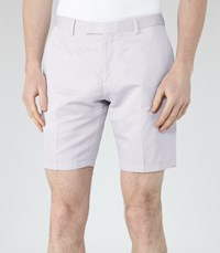 Reiss Southbury Mens Cotton And Linen Shorts In Grey