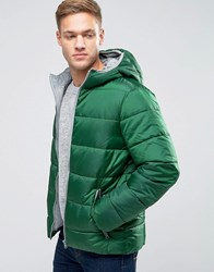 United Colors Of Benetton Padded Jacket With Hood Green 2E5