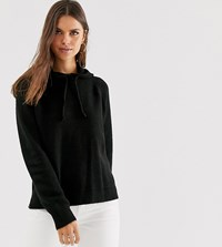 Micha Lounge Relaxed Knitted Hoodie Black