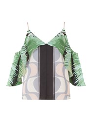 Issa Isabelle Cold Shoulder Cami Top Multi Coloured Multi Coloured