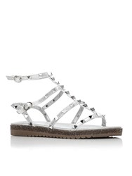 Moda In Pelle Naina Low Smart Sandals Silver