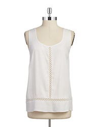 Ella Moss Embroidered Sleeveless Top White