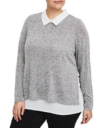 Junarose Point Collar Long Sleeve Shirt Grey